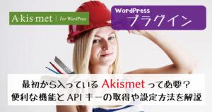 Akismetは必要?便利な機能とAPIキーの取得や設定方法を解説